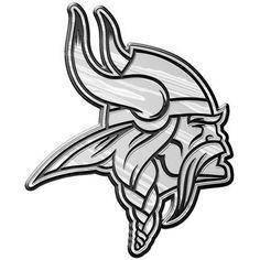 NFL Minnesota Vikings Chrome Automobile Emblem, Silver
