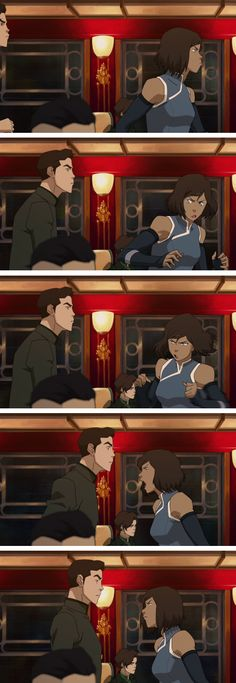 Mako and Korra aayyeeee! <3 <3 they really need to get back together