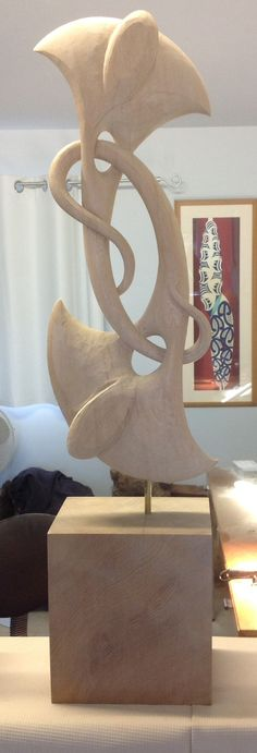 Wood carving in progress, Kerry Thompson.