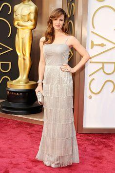 Jennifer Garner - Fringe was a standout runway trend of the season, brought to the carpet beautifully by Jennifer Garner in Oscar de la Renta.