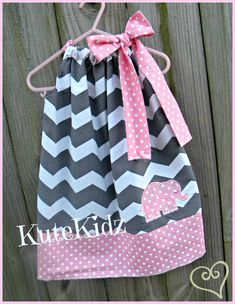 Chevron pillow case dress sizes 3m5t by KuteKidzCouture on Etsy