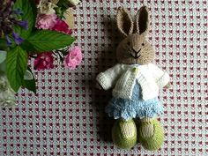"""What a well written, easy to follow pattern…and it worked up very quickly! Had to <span class=""""best-highlight"""">make the cast on a bit smaller along the back with shorter sleeves and a shorter body to fit the bunny.</span>"""