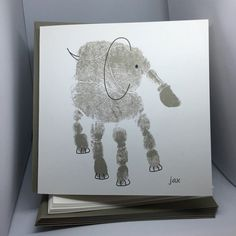 Personalized Handprint // Note Card Set  by theHandprintShoppe