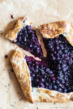 Celebrate the warm weather with this blueberry lavender galette