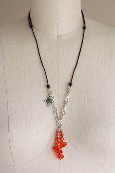 Victoria Falls Necklace in Orange