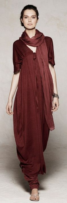 I love the top of this! But I would make it a cozy long dress instead of the Balloon pants