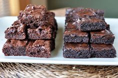 These homemade fudgy brownies are a boxed brownie knockoff, and they are even more delicious and decadent and fudgy than any boxed mix!