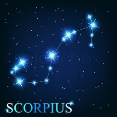 scorpio sign in the sky | ... sign of the beautiful bright stars on the background of cosmic sky