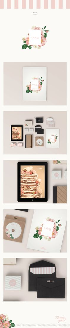 Convite | Invitation | OLIVIA by Cristiane Amaral, via Behance pretty #identity #packaging #branding PD