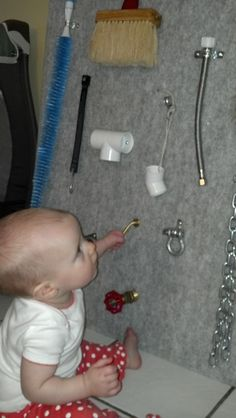 DIY Sensory Board - Easy and our little one LOVES it!