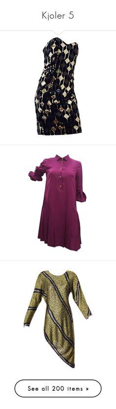 """""""Kjoler 5"""" by sissesofiemark ❤ liked on Polyvore featuring dresses, black, evening dresses, strapless cocktail dresses, velvet cocktail dress, short sequin dress, short strapless dresses, sequin dress, purple and purple cocktail dresses"""