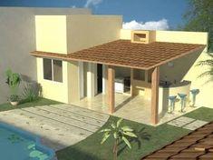 Resultado de imagem para quintal pequeno com piscina