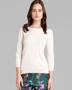 Ted Baker Sweater - Tahin Embellished  Bloomingdale's  - $248