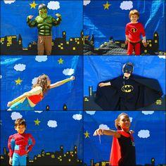 Brieuc avait choisi un anniversaire Super Héros... un thème qui spontanément ne m'inspirait pas trop.        Mais finalement, j'ai ador... Superhero Party Games, Superhero Family, Superman Party, Superhero Birthday Party, Birthday Parties, Hulk Birthday, Leo Birthday, Avengers Birthday, Photo Booth Anniversaire
