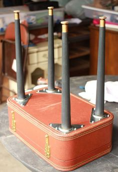 diy vintage suitcase table, chalk paint, diy, how to, painted furniture, repurposing upcycling #furnituredesign