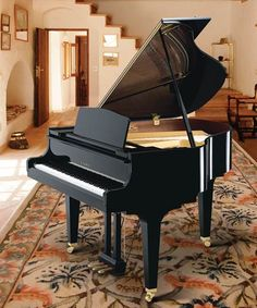 French provincial in french and piano on pinterest Size of baby grand piano