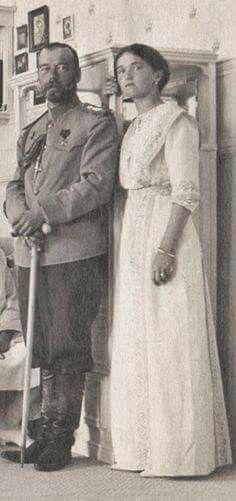 Nicholas and Olga Nicholaievna.