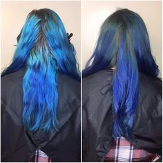Working our way out to a natural rooted out look while keeping the blue #hairbykarleeann #ellemariekarlee #ellemarielakestevens #citybeats #broadwayblue