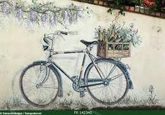 Afbeeldingsresultaat voor muurschildering tuin