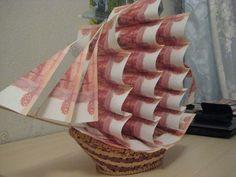 Lav en gave til en cykel: Instruktioner til at lave ting Geschenke. Money Lei, Money Origami, Diy Crafts To Do, Paper Crafts, Wedding Crafts, Diy Wedding, Money Creation, Creative Money Gifts, Money Trees