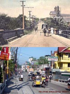 Dito, Noon: Tonsuya Bridge, Malabon City, 1890s x 2000s. #kasaysayan -- The construction of the San Bartolome Church in the background began in 1622. Philippines Culture, Manila Philippines, Old Pictures, Old Photos, Nazca Lines Peru, Philippine Houses, Filipino Culture, Back In Time, Rare Photos