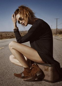 ▼ Erin Wasson by Hugh Lippe for So It Goes Magazine | Studded Hearts