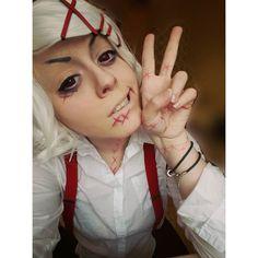 I like to cosplay Juuzou! #juuzou #juzo #juzosuzuya #tokyoghoul #manga #anime #animecosplay #cosplay #cosplayer #cosplaygirl #makeup #red #eyes cute #kawaii #yay #トーキョーグール #東京喰種