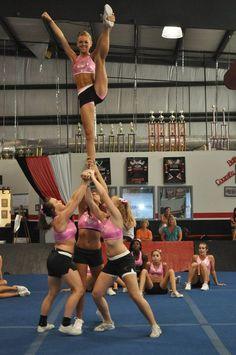 Maddie Gardner from Cheer Extreme Senior Elite Easy Cheerleading Stunts, Cheerleading Pyramids, School Cheerleading, Cheerleading Pictures, Cheer Stunts, Cheerleading Outfits, Cheer Dance, Cheer Pictures, Cheer Pics