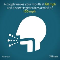 Always remember to cough or sneeze into a tissue or your sleeve (not your hands) to stop the spread of germs. #bodyfacts