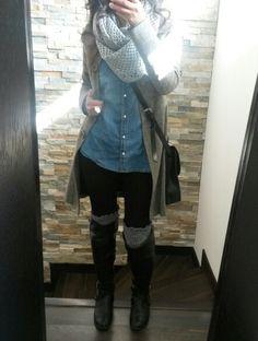 Para el frio y la lluvia... polainas, abrigo, jean