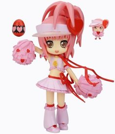 """Shugo Chara: Amulet Heart & Ran Decorachu Dress-Up Figure by Yamato. $61.00. Imported from Japan!. Amulet Heart figure measures approximately 4"""" in height!. Accessories include two pompoms, Heart Rod, Ran and Ran's egg!. Out-of-print, officially licensed collectible. Features an adjustable stand!. Weight: 0.141kgs Package Size: 6cm x 19cm x 15cm"""