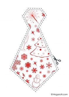 Kit descargable para hacer un photocall de Navidad - Corbata blanca y roja