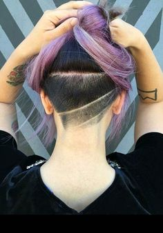Undercut - An Unexpected Addition to Purple Hair                              …
