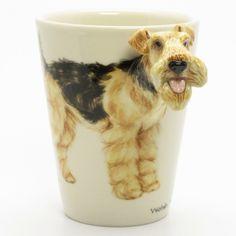 Welsh Terrier Mug 00001 Ceramic 3D Coffee Cup Dog Lover Art Crafts.