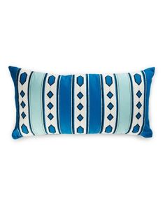 Diamond Striped Embroidered Pillow - x Main View Turquoise Bracelet, Home Goods, Feather, Pillows, Diamond, Stuff To Buy, Home Decor, Decoration Home, Room Decor
