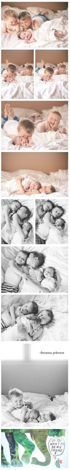 lifestyle newborn shoot with siblings - love