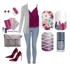 """""""Occupations - Jamberry Nails"""" by kspantongroup on Polyvore featuring Topshop, Betty Blue, Miu Miu, Meira T and Monica Vinader"""