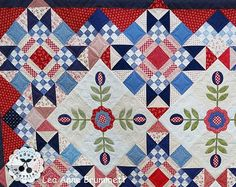 Patriotic Picnic//PDF digital download Bed Quilt Patterns, Crochet Blanket Patterns, Queen Bed Quilts, Raw Edge Applique, Old Sewing Machines, Patriotic Quilts, Applique Templates, Antique Quilts, Quilt Bedding