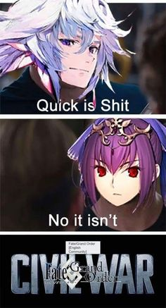 I think quick can be helpful Baguio, Solomon And Sheba, One Punch Anime, Funny Moments, Funny Things, Fate Servants, Video Game Memes, Fate Anime Series, How To Make Comics