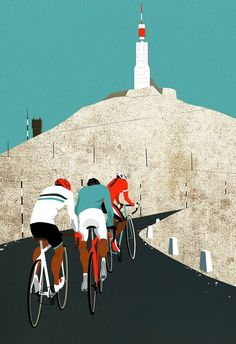 Mont Ventoux print by Eliza Southwood for the Cyclist's Bucket List. Mont Ventoux will take a starring role on Bastille Day at this year's Tour.