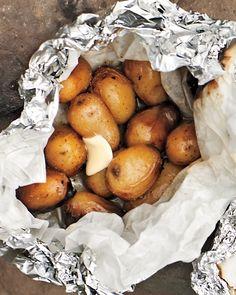 Beer-Steamed Potato Hobo Pack - Martha Stewart Recipes #diy #crafts