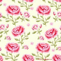 Patrón continuo de flores Vector Gratis