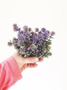 7 Stems Purple Green Sedum - Artificial Filler, Artificial Flowers, Flower Crown Filler - ITEM 01361