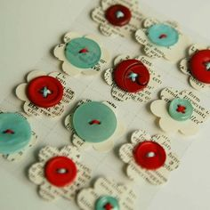 Button FLowers!
