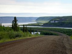 lDempster Highway-The village of Tsiigehtchic(formerly Arctic Red River) NWT