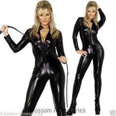 CL358-Fever-Miss-Whiplash-Vinyl-Suit-Black-Catsuit-Catwoman-Fancy-Dress-Costume