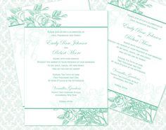 DIY Printable Wedding Invitation Template 5x7  by WeddingsbyJanieV