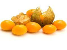 Fisális - é pequena e amarelada. A fruta é envolvida por uma fina película semelhante a uma folha.