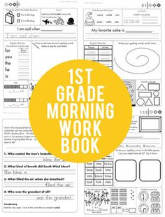 1st Grade Common Core Morning Workbook http://www.teacherspayteachers.com/Product/1st-Grade-Common-Core-Morning-Workbook
