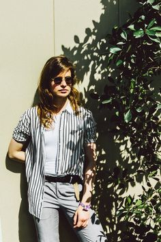 Christine and the Queens photographed by Pooneh Ghana at Coachella, 2016.